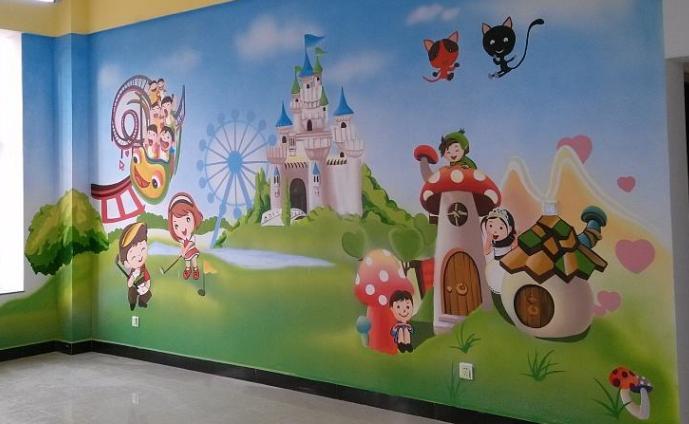 什么是幼儿园墙体彩绘?